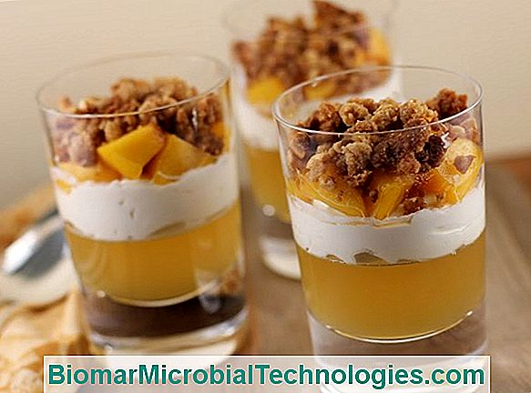 Verrine With Apples, Honey And Hazelnut