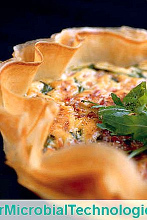 Quiche In Brick Leaves, Bacon And Arugula